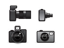 Camera icons. Four icons of photo camera Royalty Free Stock Images