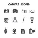 Camera icons Stock Photography