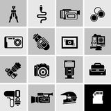 Camera Icons Black Royalty Free Stock Photo