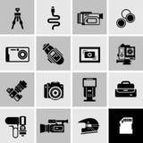 Camera Icons Black Royalty Free Stock Photo