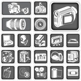 Camera icons Royalty Free Stock Images