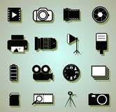 Camera icons. Doodle Camera icons, vector illustration Stock Images