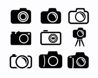 Camera icons Royalty Free Stock Photo