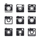 Camera icons. Hipster photo camera pictogram Royalty Free Stock Photography