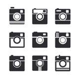 Camera icons. Hipster photo camera pictogram Royalty Free Stock Photography
