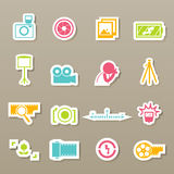 Camera icons  Stock Photos