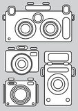 Camera icons isolated on gray Stock Image
