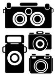 Camera icons isolated on white Stock Photos