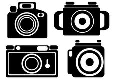 Camera icons isolated on white Royalty Free Stock Photo