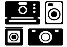 Camera icons isolated on white. Background Royalty Free Stock Image