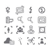 Camera icons menu Stock Image