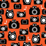 Camera icons of seamless pattern Royalty Free Stock Photos
