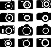 Camera icons set of 12 Royalty Free Stock Image