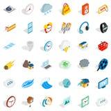Camera icons set, isometric style. Camera icons set. Isometric style of 36 camera vector icons for web isolated on white background Stock Photography