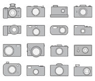 Camera icons set. Photo camera icon set. eps10  illustration Stock Image