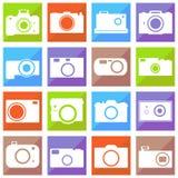 Camera icons set. Photo camera icon set. eps10  illustration Royalty Free Stock Photo