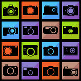 Camera icons set Royalty Free Stock Photos