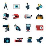 Camera Icons Set Stock Photos