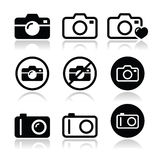 Camera  icons set Stock Images