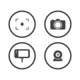 camera icons set. video icon. Vector illustration. stock illustration