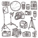 Camera Icons Set Royalty Free Stock Photo