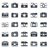 Camera icons or symbol on white background. Camera icons or symbol . Camera silhouette or logo vector set isolated on white background Royalty Free Stock Photos