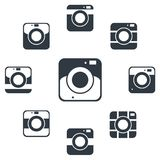 Camera icons or symbol on white background. Camera silhouette or logo vector set. Isolated on background Stock Photo