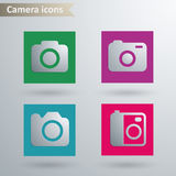 Camera icons Royalty Free Stock Image