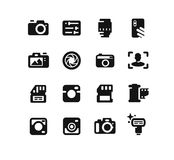 Camera icons on white background. Stock Image