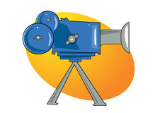 Camera illustration. Ai file available Royalty Free Stock Photos