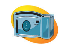 Camera illustration. Ai file available royalty free illustration