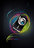 Camera illustration Stock Photography