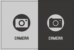 Camera Illustration. A clean and simple camera illustration Royalty Free Stock Photos