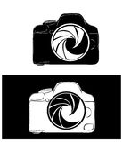 Camera. Illustration of  a cool camera on white and black background Royalty Free Stock Photo