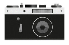 Camera. The illustration of camera is the prototype of retro camera Zenit Stock Photography