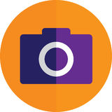 Camera. Image of camera. Great for icon, or application usage Royalty Free Stock Images