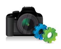 Camera with industrial gears Stock Photo