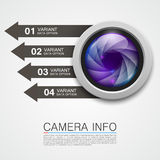 Camera info banner art creative Royalty Free Stock Images