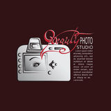 Camera and the inscription the BEAUTY Royalty Free Stock Image