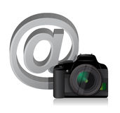 Camera and internet at sign Stock Photography