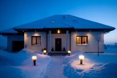 Camera in inverno Immagine Stock