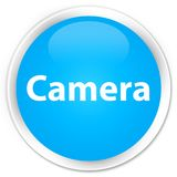 Camera premium cyan blue round button Royalty Free Stock Photos