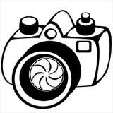 Camera isolated on white background Royalty Free Stock Image