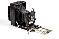 Camera Isolated on White Royalty Free Stock Photos