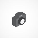 Camera isometric icon 3d vector illustration Royalty Free Stock Image