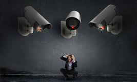 Camera keep an eye on man Stock Images