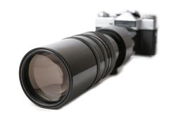Camera with large lens Royalty Free Stock Image