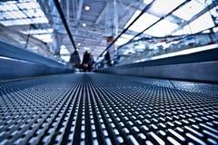 Camera lay on escalator view Stock Photography