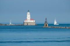 Camera leggera del porto di Chicago Fotografia Stock Libera da Diritti