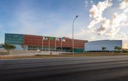 Camera legislativa di Distrito federale - Brasilia, Distrito federale, Brasile fotografia stock libera da diritti